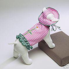 Dog Clothes Pink Gingham Sundress Size XS Pet Supplies | eBay