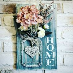 Home Sign Mason Jar String Art You are in the right place about outdoor Crafts For Adults Here we offer you the most beautiful pictures about the butterfly Crafts For Adults you are looking for. When you examine the Home Sign Mason Jar String Art … Pot Mason Diy, Mason Jar Crafts, Mason Jars, Diy Crafts For Kids, Crafts To Sell, Arts And Crafts, Craft Ideas For Adults, Adult Crafts, Easy Crafts