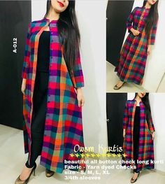 A person searched for: shrugs for long dresses! Finthousands of hand made, vintage, and diverse goods. Simple Kurti Designs, Kurta Designs Women, Kurti Neck Designs, Dress Neck Designs, Salwar Designs, Blouse Designs, Indian Fashion Dresses, Indian Designer Outfits, Fashion Outfits
