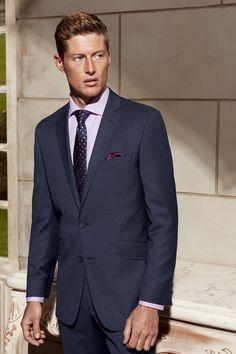 The Bondi Slim Fit suit in Super 130's Pure Australian Merino Wool (blue tonal check).
