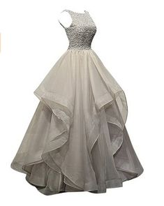 Gray Prom Dresses,Silver Grey Prom Dress,Sexy Prom Dress,Prom