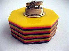 Vintage Thermoset Plastic Cigarette Table Lighter by FantasyField