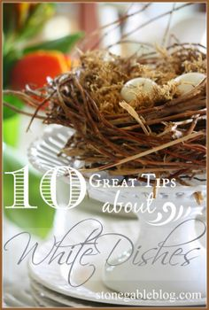 10 Great Tips About White Dishes! Lots of ideas