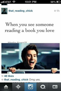 THATS SO ME THO<<< I automatically like you. Unless you say you hate my favourite character and/or the book.