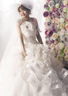 dball2020.tumblr.com White Ruffle Organza Gown