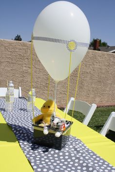 """Photo 1 of 32: Yellow & Grey / Baby Shower/Sip & See """"Oh Boy! Baby Shower"""" 