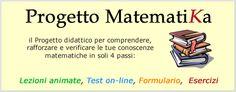 Matematica per la scuola secondaria di primo e di secondo grado. Tabelle, formulari, ecc.