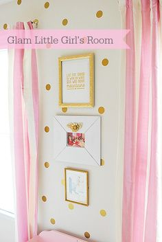Gold & Glam little girl's room.