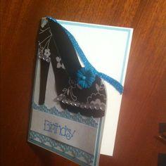 high heel card - made by melrose