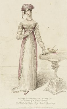 1814 Fashion Plate (Dinner Dress and the Platoff Cap) | LACMA Collections