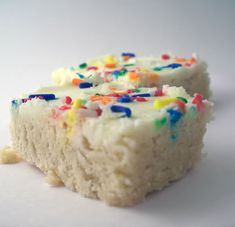 Sugar Cookie Bars.  They were great cause they were fast and appealing.  I still prefer my homemade sugar cookies to them but my kids loved them and my teenager has asked me several times since to make them.  So, when crunched for time, they're great!