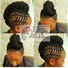 Cornrows up-do