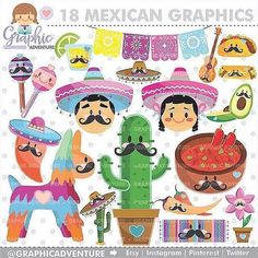 """Mexican Graphics"" ........... Personal and Small Commercial Use ......... Find it: ⭐️www.GraphicAdventure.Etsy.com ⭐️ You'll love it #etsy #scrap #scrapbooking #scrapbook #printable #scrapping #party #partytime #partysupplies #partydecoration #planner #plannerlove #plannercommunity #plannergoodies #happyplanner #kawaii #planners #plannergeek #plannergirl #planneraddicts #planneraccesories #plannerjunkie #plannergeek #plannercuteness #plannerdecoration #plannerobsessed #plannerne..."