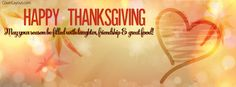Happy Thanksgiving Laughter Friendship Great Food Facebook Cover coverlayout.com