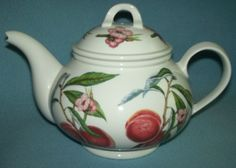 PORTMEIRION+POMONA+Royal+George+PEACH+Teapot+ENGLAND+Gorgeous! Teapot, Peach, England, Tableware, Collection, Peaches, Dinnerware, Tea Pot, Tablewares