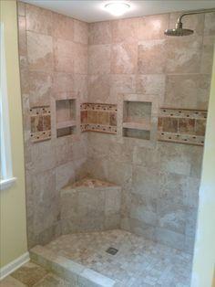 shower seats custom tile shower