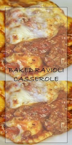 BAKED RAVIOLI CASSEROLE  #cooking #yummy Baked Ravioli Casserole, Ravioli Bake, Pasta Bake, Casserole Recipes, Pasta Recipes, Salad Recipes, Chicken Recipes, Easy Dinner Recipes, Yummy Recipes