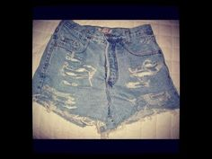 Do it yourself high waisted shorts are a money saver take old jeans and turn them into high waisted shorts with this easy video.