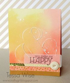 Wednesday, December 11, 2013  Artsy New Goodies From Stampin' Up!Ampersand Card 1 by tessawise