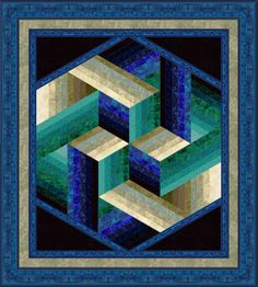 """""""Faberge"""", a dimensional strip quilt by Jinny Beyer"""