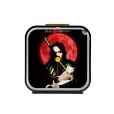 Home Decor Personalized Marilyn Manson Custom Square Black Alarm Clock ** More info could be found at the image url.