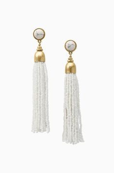 White Tastle Earrings