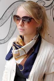 tie square silk scarf