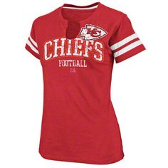 Kansas City Chiefs Women's Go For Two Red T-Shirt