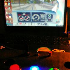 Driving a train with two buttons.  #arduino  #arduinoproject  #arduinocontrollerproject  #arcadecontrollerproject  #arcadebutton  #arcade #lightedarcadebuttons  #science  #geek by thenerdydht