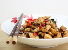 Cashew Chicken in Thai Chili Plum Sauce. One of my favorite Thai