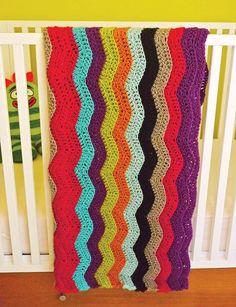 How To Make a Missoni for Target-Inspired Crochet Blanket