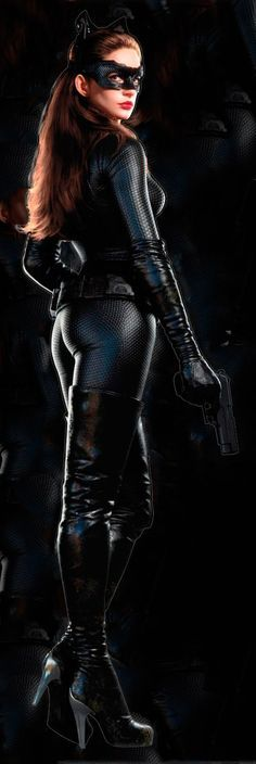 Anne Hathaway as Catwoman on Dark Knight Rises
