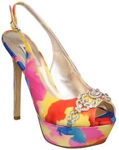 ShopStyle: Dune Hercules Psychedelic Print Satin Court Shoes, Multi
