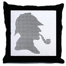 sherlock-holmes-Lore-M-fond-noir-1 Throw Pillow for