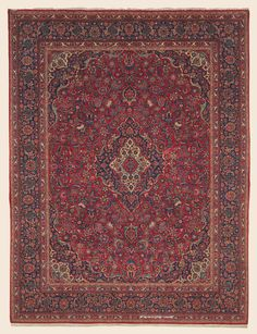 """KASHAN, 9' 1"""" x 11' 8"""" — Circa 1930 —Price: $12,000, Central Persian Antique Rug - Claremont Rug Company"""