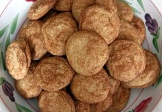 Martha Stewart's Snickerdoodles (no cream of tartar) - making these for Justin's crew this week - and our sweet neighbor lady!