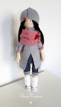 Textile toys - handmade with love by Alina Minina: Young Girl Doll
