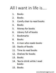 More books.