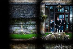 Kilt clad groomsmen at The Great Tythe Barn in the Cotswolds, more here - Tythe Barn, Groomsmen, Wedding Photography, London, Wedding Shot, Bridal Photography