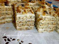 Fincsi receptek: Krémes sütik Hungarian Cake, Hungarian Recipes, Poppy Cake, Torte Cake, Ham, Banana Bread, Food And Drink, Xmas, France