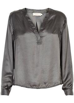 Cream Bluse grå 10601740 Simone Shirt - smoked pearl – Acorns