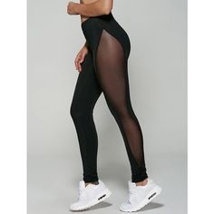 See-Through Mesh Leggings ❤ liked on Polyvore featuring pants, leggings, transparent pants, sheer mesh leggings, legging pants, mesh pants and sheer leggings
