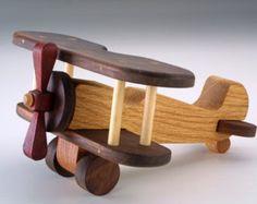 Handcrafted wooden plane eco friendly toy by Woodartukraine