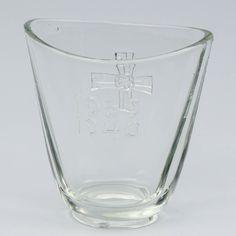 Korsu-malja, RIIHIMÄEN LASI, v. 1939-1940. Pint Glass, Beer, Glasses, Tableware, Root Beer, Eyewear, Ale, Eyeglasses, Dinnerware