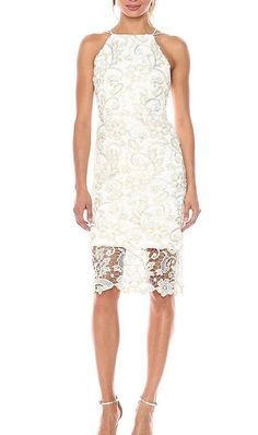 6351f2e8ae Nicole Miller NEW YORK white Floral Lace Halter Dress Size 6 NWT  239   NicoleMillerNewYork  MaxiSheath  cocktailparty