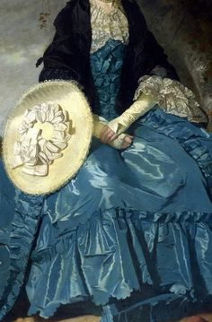 """Portrait of Mrs. Oswald"" (1770) (detail), by Johann Zaffony (1733 – 1810"