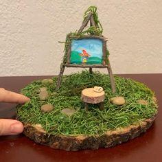 Fairy Garden Furniture, Fairy Garden Houses, Fairy Tree Houses, Fairy Garden Supplies, Diy Fairy Door, Fairy Doors, Fairy House Crafts, Indoor Fairy Gardens, Miniature Fairy Gardens