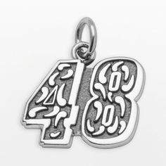 """Insignia collection nascar jimmie johnson sterling silver """"48"""" pendant on shopstyle.com"""