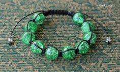 handmade bracelet shamballa cord crackle rękodzieło bransoletka sznurek ручная_работа браслет шнур