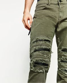510c8f86 Image 6 of RIPPED SKINNY JEANS from Zara Ripped Skinny Jeans, Parachute  Pants, Zara